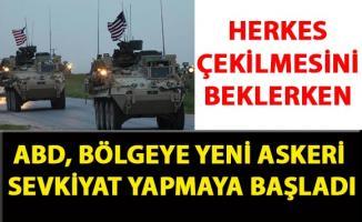 ABD birlikleri, Kuzey Irak'tan Haseke bölgesine yeni askeri sevkiyat gerçekleştirdi