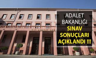 Adalet Bakanlığı Sınav Sonuçları Açıklandı! ÖSYM, Adalet Bakanlığı
