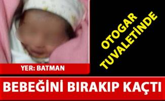 Batman otogar tuvaletinde bebek bulundu