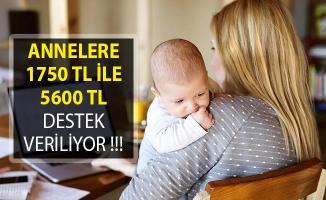 Çalışan ve Çalışmayan Annelere 1750 TL ile 5600 TL Destek Veriliyor! Annelere Destek