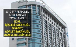 EGM, İçişleri Bakanlığı, Diyanet, Adalet Bakanlığı, Orman Genel Müdürlüğü ve Belediyeler TYP Personeli Alıyorlar!