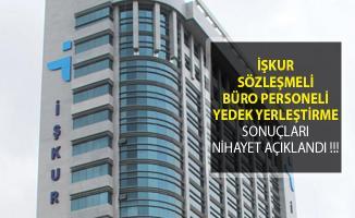 İŞKUR Sözleşmeli Büro Personeli Yedek Yerleştirme Sonuçları Nihayet Açıklandı !!!