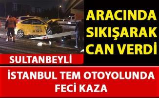 İstanbul TEM otoyolu'nda meydana gelen trafik kazası sonucu bir kişi hayatını kaybetti
