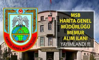 Milli Savunma Bakanlığı Harita Genel Müdürlüğü Kamu Personeli Alım İlanı Yayımladı!