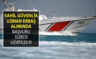 Sahil Güvenlik Komutanlığı Uzman Erbaş Alımı Başvuru Süresi Uzatıldı!