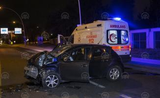 Ankara Çankaya'da meydana gelen trafik kazasında 1 kişi yaralandı