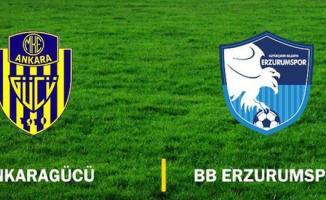 Ankaragücü yarın Erzurumspor'u konuk edecek