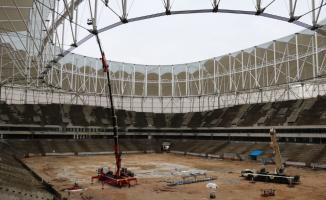 Bakan Kasapoğlu'ndan inşası süren stada inceleme