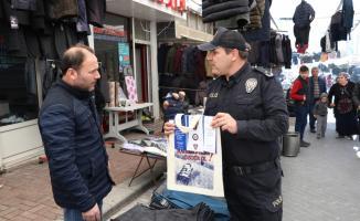 Bez çantayla uyuşturucu ve kadına şiddete karşı farkındalık