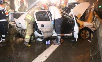 E-5 kara yolu Kadıköy-Kozyatağı'nda meydana gelen zincirleme kazasında 1 ölü 4 yaralı