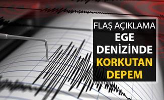 Ege Denizinde Korkutan Deprem ! Açıklama Geldi