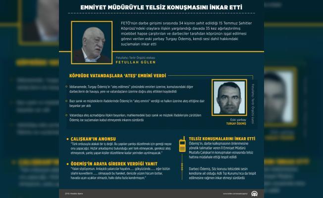 GRAFİKLİ - Emniyet müdürüyle telsiz konuşmasını inkar etti