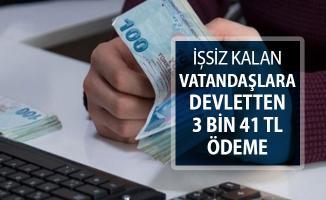 İşsiz Kalan Vatandaşlara Devletten 3 Bin 41 TL Ödeme Yapılacak
