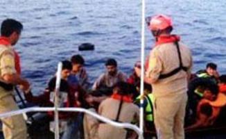 İzmir Dikili'de 46 düzensiz göçmen yakalandı