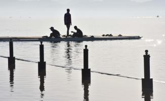 Kano ve kürek takımlarının tercihi Köyceğiz Gölü