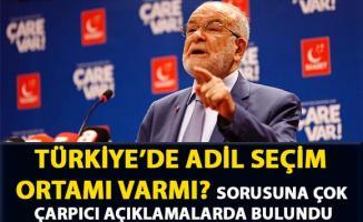 Karamollaoğlu, 'Türkiye'de adil seçim ortamı varmı?' sorusuna yanıt verdi