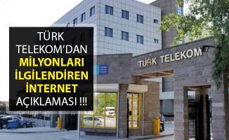 Kota Aşımında İnternet Yavaşlamayacak, Kesilecek Haberlerine Türk Telekom'dan Açıklama Geldi