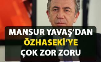 Mansur Yavaş, Özhaseki'nin metro projesi söylemine karşı öyle bir soru sordu ki...