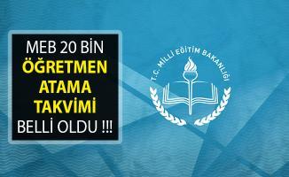 Milli Eğitim Bakanlığı (MEB) 20 Bin Sözleşmeli Öğretmen Alımına İlişkin Takvim Açıklandı