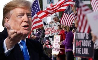 New York'ta Trump'a ulusal acil durum protestosu