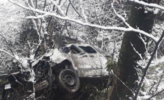 Ordu Çamaş'ta trafik kazası- Uçuruma düşen otomobilde bulunan 3 kişi hayatını kaybetti