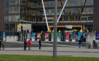 PKK yandaşları  Avrupa Konseyi Binası önünde eylem yaptı