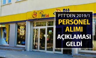 PTT'den 2019/1 Personel Alımı Açıklaması Geldi