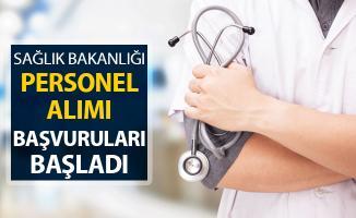 Sağlık Bakanlığı Personel Alımı Başvuruları Başladı
