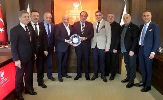 Spor Toto 1. Lig Kulüpler Birliğinden Demirören'e ziyaret