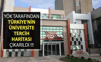 YÖK, Türkiye'nin Üniversite Tercih Haritasını Çıkarttı! Çarpıcı Sonuçlar Ortaya Çıktı