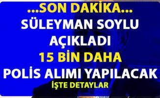 15 bin yeni polis alımı yapılacak! Bakan Soylu, son dakika Sivas mitinginde duyurdu!