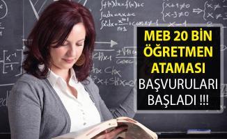 20 Bin Öğretmen Ataması Başvuruları Başladı- MEB Sözleşmeli Öğretmenlik Başvurusu Nasıl Yapılır? 2019 Öğretmen Ataması