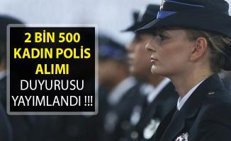 2 Bin 500 Kadın Polis Alımı Duyurusu Yayımlandı- Polis akademisi 2 Bin 500 Kadın Polis Alımı Duyurusu- 24. Dönem POMEM