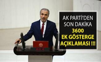 AK Parti'den 3600 Ek Gösterge Hakkında Son Dakika Açıklaması- 3600 Ek Gösterge Ne Zaman Çıkacak?