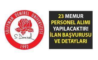 Akademik personel alımı yapılacaktır! Süleyman Demirel Üniversitesi 23 öğretim görevlisi alımı için iş ilanı yayımladı