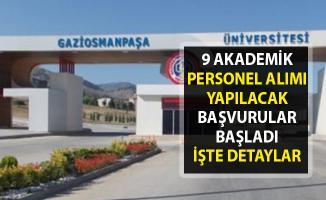 Akademik personel alımı yapılacaktır! Tokat Gaziosmanpaşa Üniversitesi 9 öğretim görevlisi alımı için iş ilanı yayımladı.