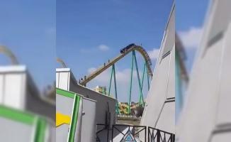 Ankapark'ta Roller Coaster Bozuldu- Vatandaşlar Raydan Yürüyerek İndi