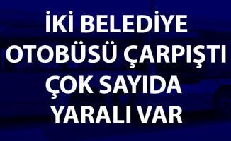 Ankara'da iki belediye otobüsü çarpıştı! Çok sayıda yaralı var