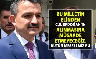 Bakan Pakdemirli bütün meselelerinin, bu milletin elinden Recep Tayyip Erdoğan'ın alınmaması olduğunu söyledi