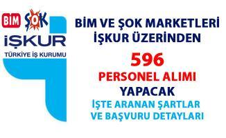 BİM ve ŞOK market iş başvurusu yayınladı! BİM ve ŞOK marketler İŞKUR üzerinden 596 personel alımı yapacak