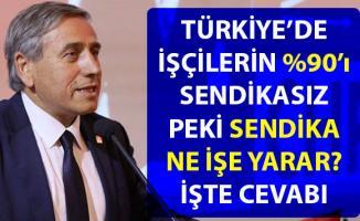 CHP'li Kaya, sendikalı olmanın önemine dikkat çekerek Türkiye'de ki sendikasız işçiler hakkında bilgi verdi