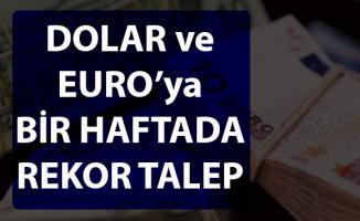 Dövize talep giderek artıyor! Bankalardaki Dolar ve Euro miktarı artıyor