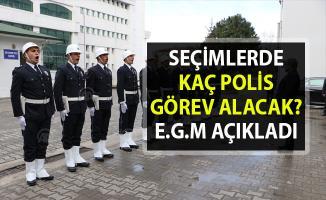 Emniyet Genel Müdürü Celal Uzunkaya, yerel seçimlerde görev alacak polis sayısını açıkladı!.