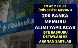 Fibabanka banka memuru alımı yapıyor! 200 Personel alımı için başvuru detayları belli oldu