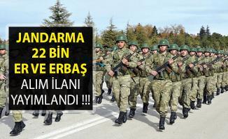 Jandarma Genel Komutanlığı 22 Bin Sözleşmeli Er ve Erbaş Alım İlanı Yayımlandı