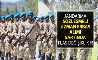 Jandarma Sözleşmeli Uzman Erbaş Alımı Şartında Flaş Değişiklik- Jandarma Sözleşmeli Uzman Erbaş Alımı 2019