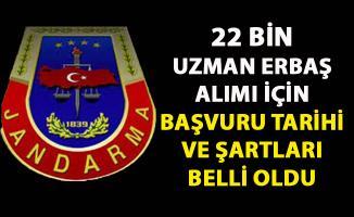 Jandarma Uzman erbaş alımı için başvuru tarihi belli oldu! 22 bin sözleşmeli askeri personel alınacak!