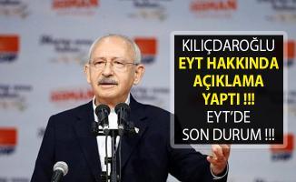 Kılıçdaroğlu'ndan Emeklilikte Yaşa Takılanlar (EYT) Hakkında Açıklama