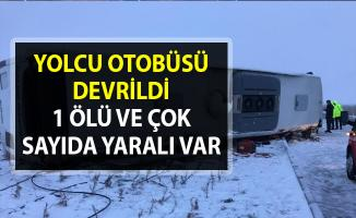 Konya'da yolcu otobüsü kaza yaptı!. 1 ölü 17 yaralı