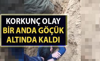 Malatya'da kanalizasyon kazı çalışmasında göçük meydana geldi!..